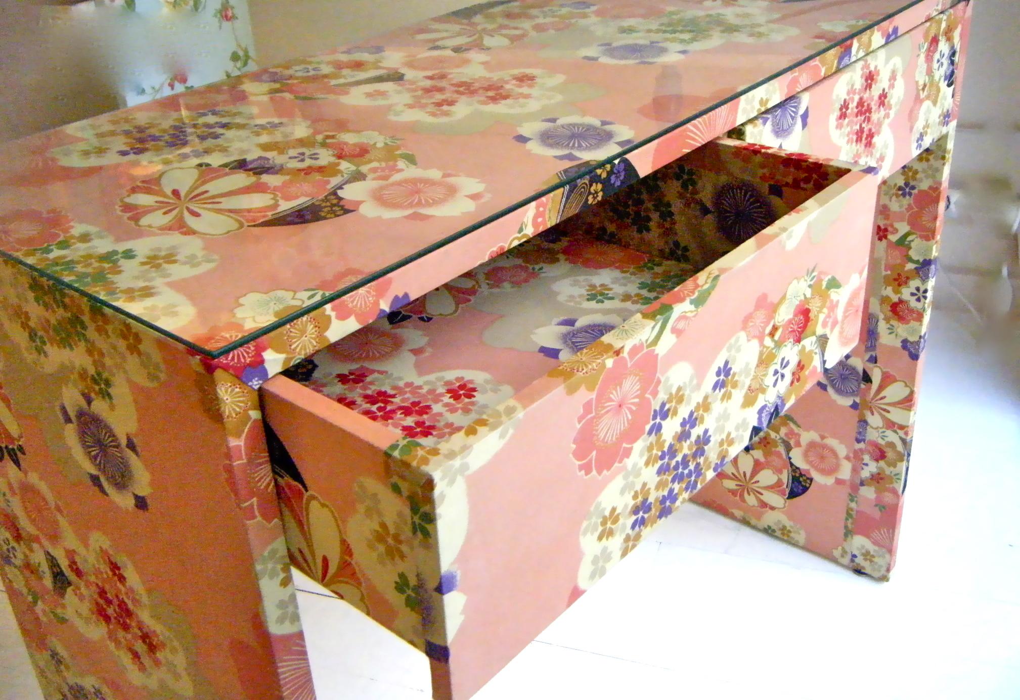 Muebles forrados estardelux for Tela para forrar muebles
